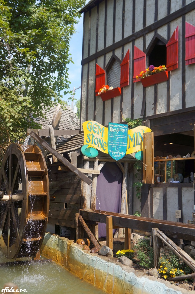 Water mill at Michigan Renaissance Faire 2012 in Holly, Michigan.