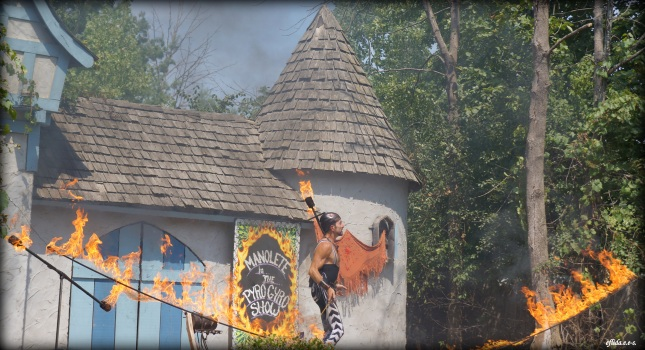 Manolete in his Pyro Show at Michigan Renaissance Faire.