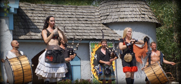 The Tartanic Band in their beautiful rendition of Amazing Grace in pipes and drums at Michigan Renaissance Faire.