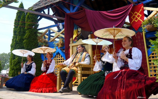The Court at Michigan Renaissance Faire 2012 in Holly, Michigan.