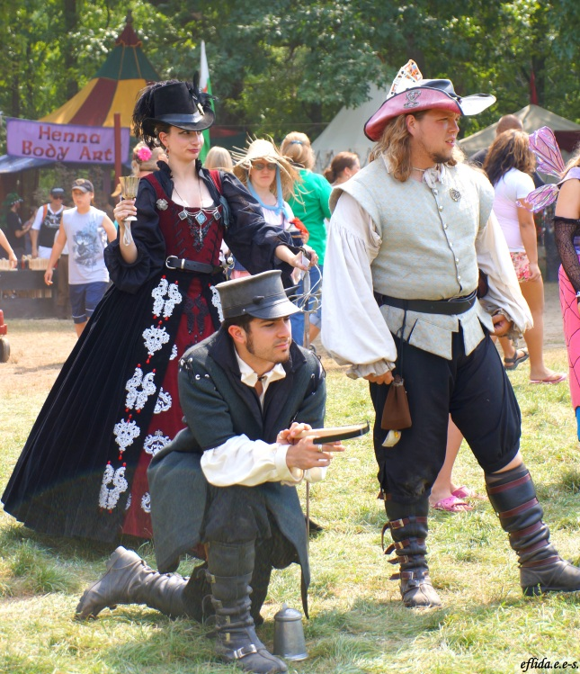Some participants at Michigan Renaissance Faire in Holly, Michigan.