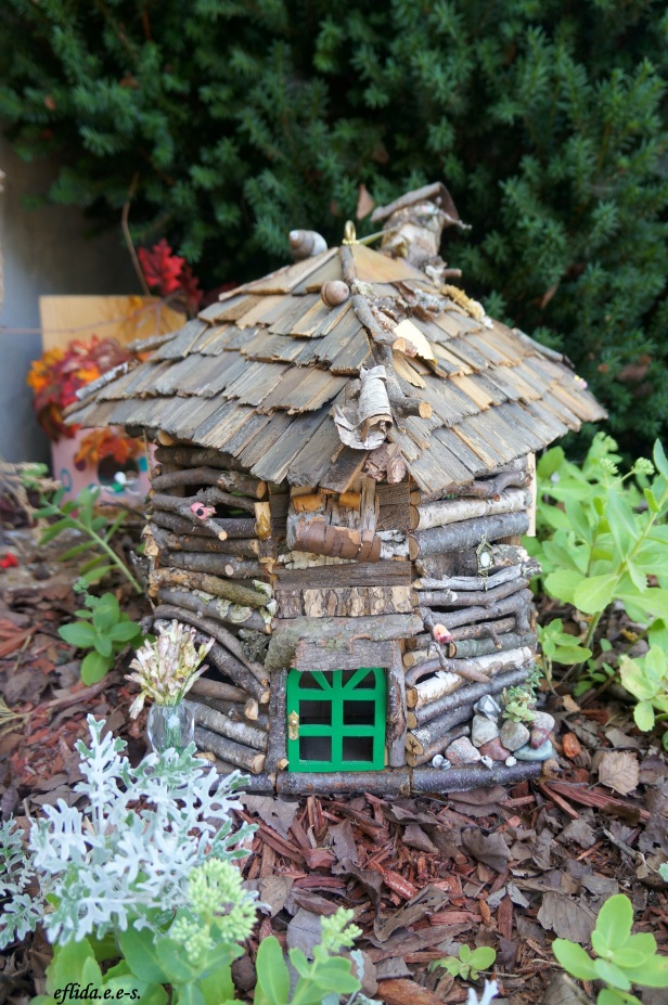 A fairy house made of twigs at MIchigan Renaissance Faire 2012.