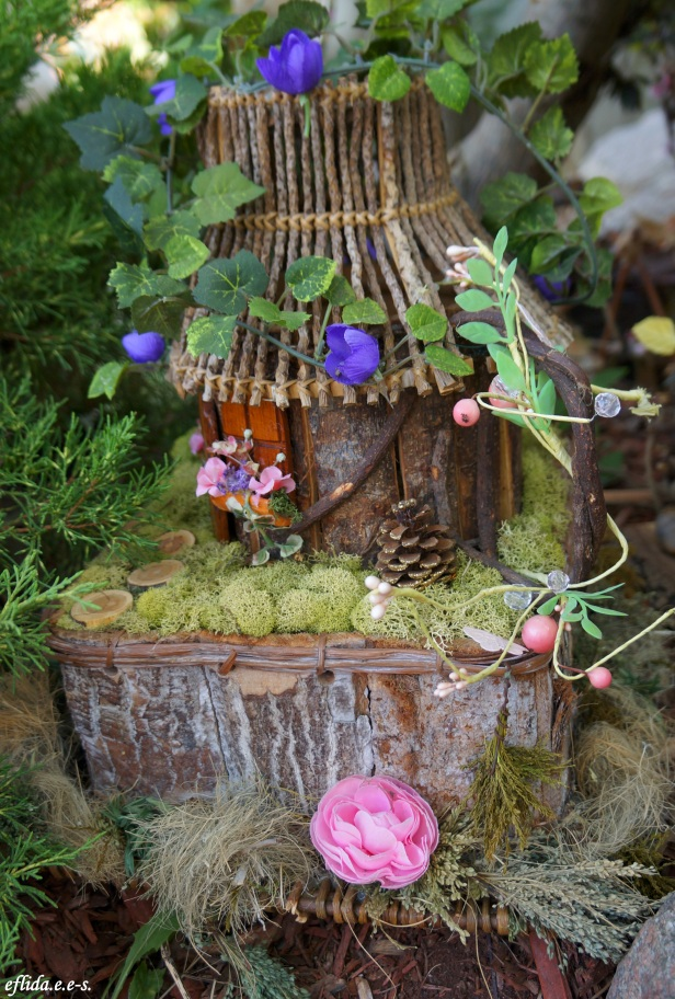 Another fairy house made of twigs at Michigan Renaissance Faire 2012.