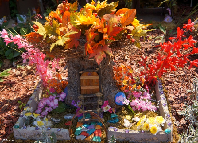 First prize winner of Fairy House contest at Michigan Renaissance Faire, Fairy House #2 created by Sarah Montgomery.