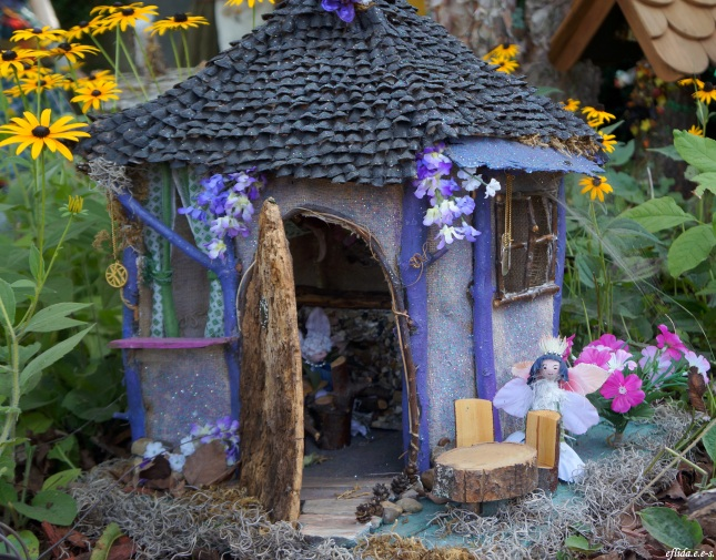 A purple fairy house at Michigan Renaissance Faire 2012.