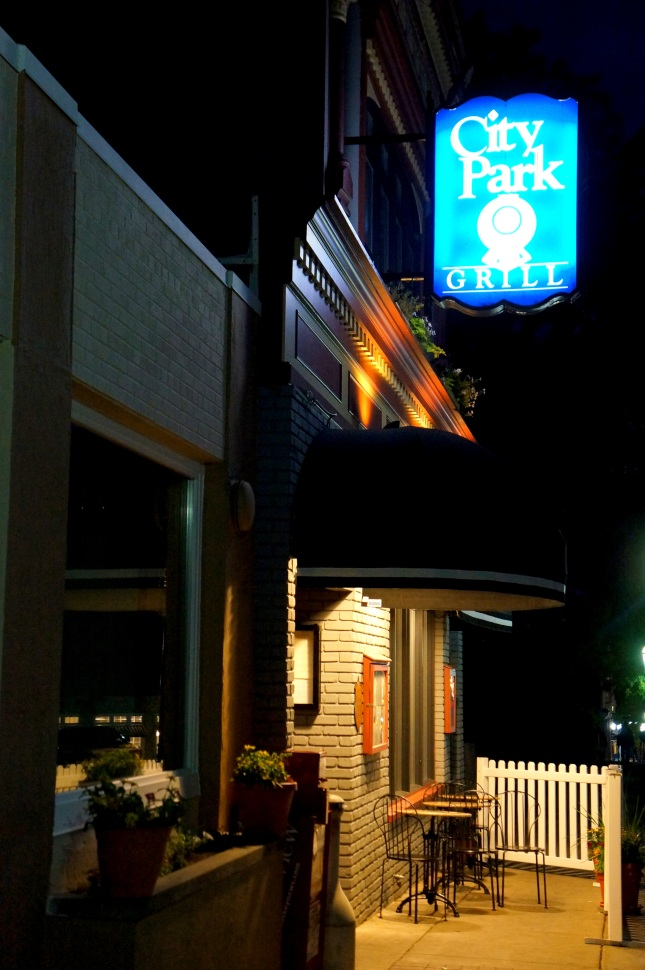 Great dining experience at City Park Grill in Petoskey, Michigan.