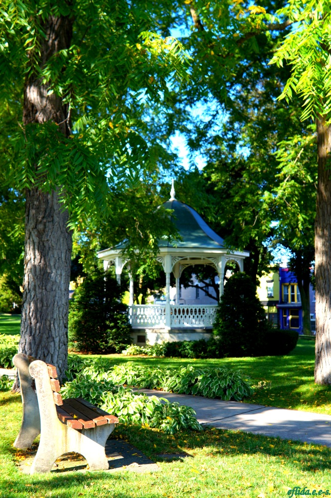 A gazebo at downtown Petoskey in Michigan.