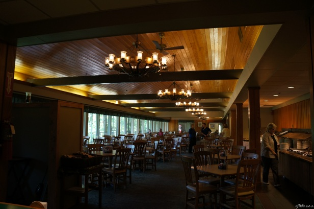 Dining at Natural Bridge State Park Resort in Kentucky, USA.