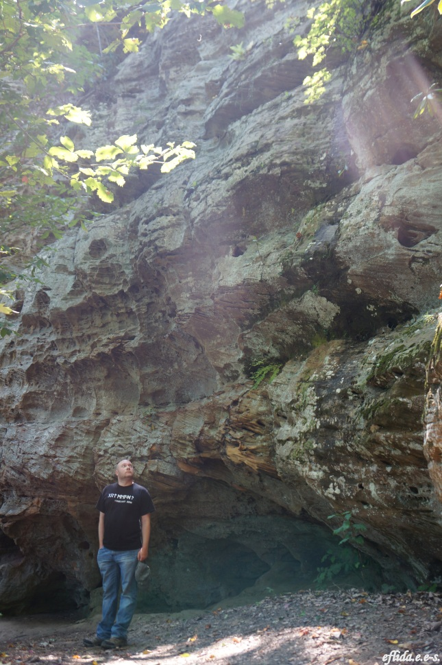 Some beautiful rock formations seen while hiking one of the trails at Natural Bridge State Park in Kentucky, USA.