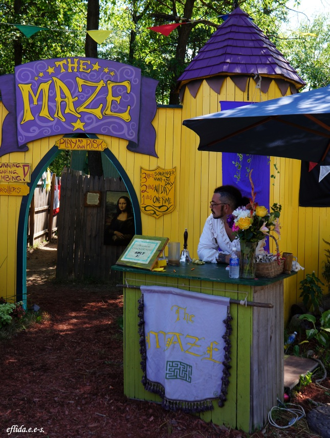 The game of maze at Michigan Renaissance Faire.