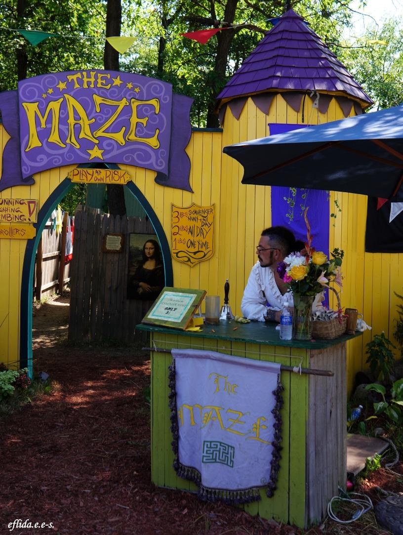 the maze at Michigan Renaissance Faire
