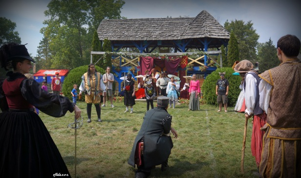 Role playing at Michigan Renaissance Faire.