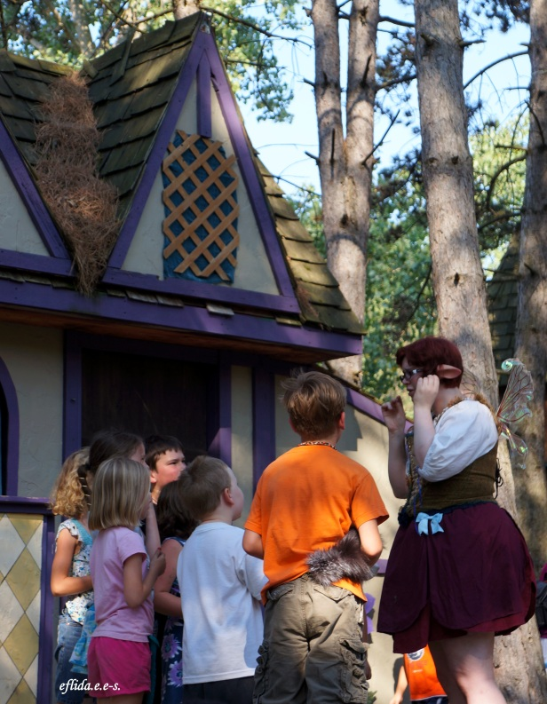 Storytelling and puppet show at Michigan Renaissance Faire.