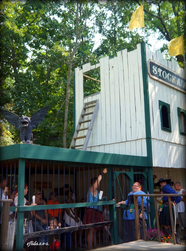 The prison at Michigan Renaissance Faire where the only allowed bail is to sing or dance.