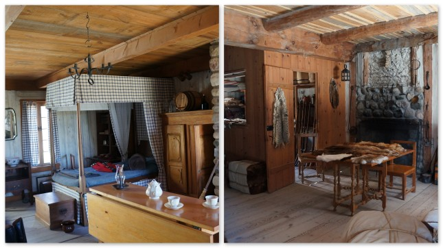 Inside one of the residences at Fort Michilimackinac, Michigan.