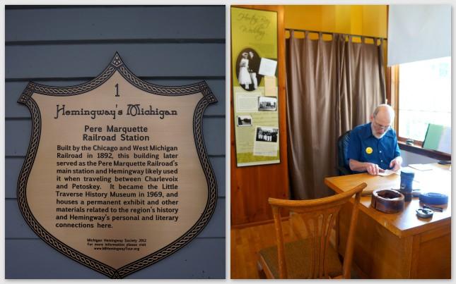 Inside Little Traverse Historical Museum in Petoskey, Michigan.