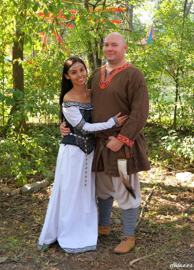 Lady of the Chess and Saxon Aethelstan at Michigan Renaissance Faire in Holly, Michigan.