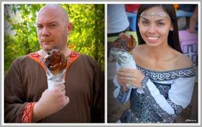 turkey leg at Michigan Renaissance Faire