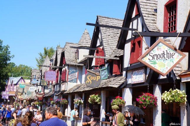 Food and drink shops at Michigan Renaissance Faire.