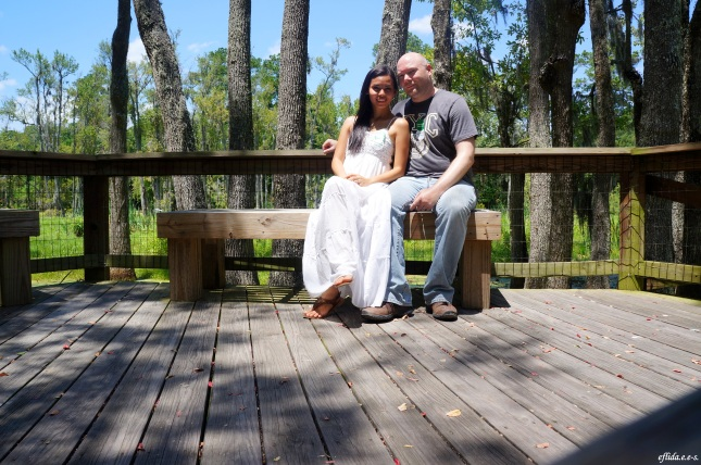 Hubby and I at Audubon Swamp Garden in Charleston, South Carolina.