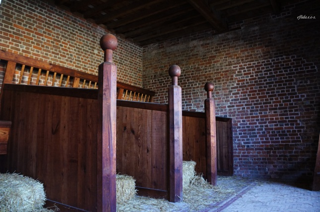 The stables at Tryon Palace in New Bern, North Carolina is the only original structure  that survived.