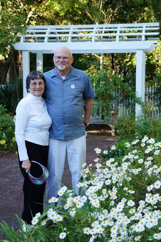 My mom and dad-in-law at Tryon Palace and Gardens in New Bern, North Carolina.