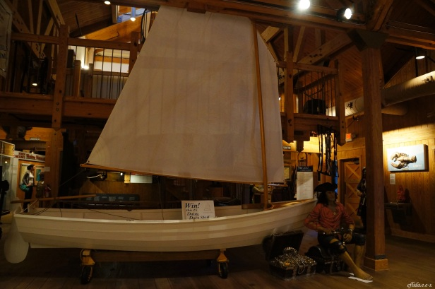 One of the displays about maritime history at North Carolina Maritime Museum, Beaufort.