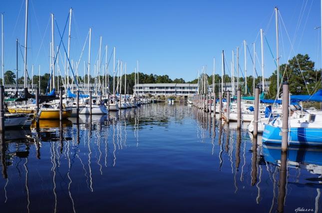 The windsail cruise departs from Northwest Creek Marina in New Bern, North Carolina.