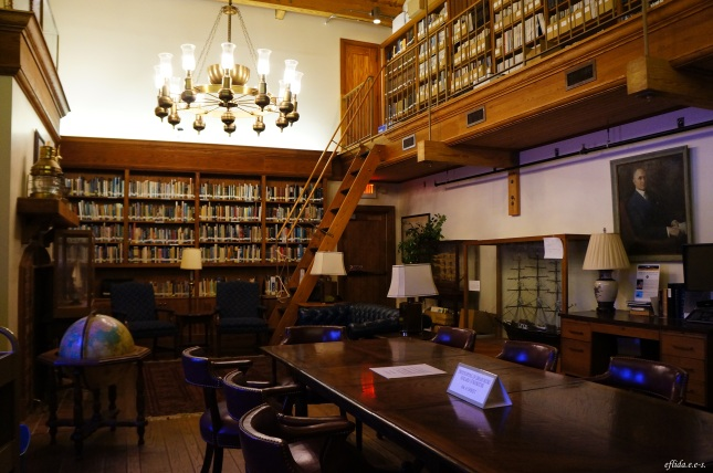 The Maritime Library inside North Carolina Maritime Museum in Beaufort.
