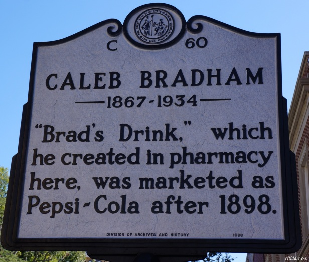 Caleb Bradham created the Brad's Drink in this pharmacy in New Bern, North Carolina and was marketed as Pepsi-Cola in 1898.