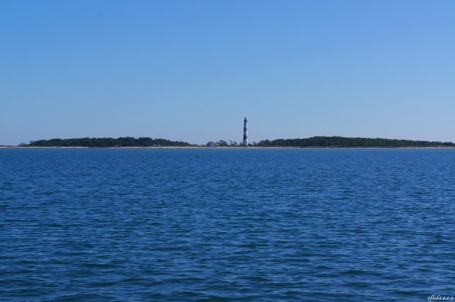 Approaching the Cape Lookout Lighthouse in Southern Outer Banks, North Carolina.