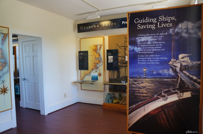 Inside Cape Lookout's Lightkeeper's house in the Southern Outer Banks in North Carolina.