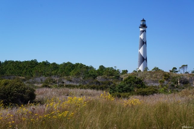 Cape Lookout Lighthouse on the Southern Outer Banks of North Carolina.