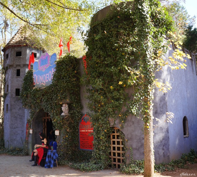 an artsy castle at Carolina Renaissance Faire at Charlotte. North Carolina
