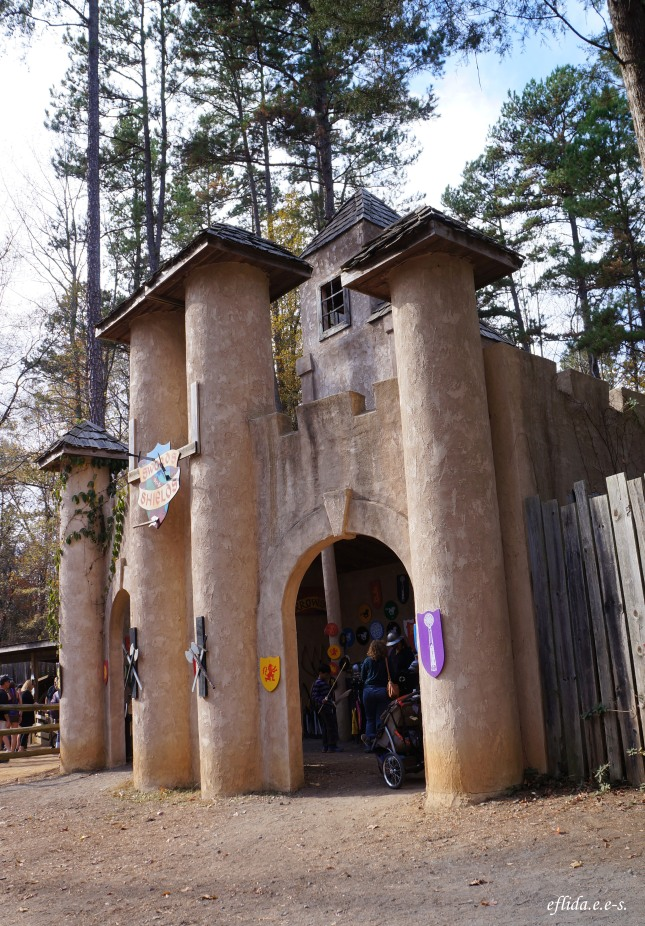 a beautiful castle at Carolina Renaissance Faire 2012 in Charlotte, North Carolina