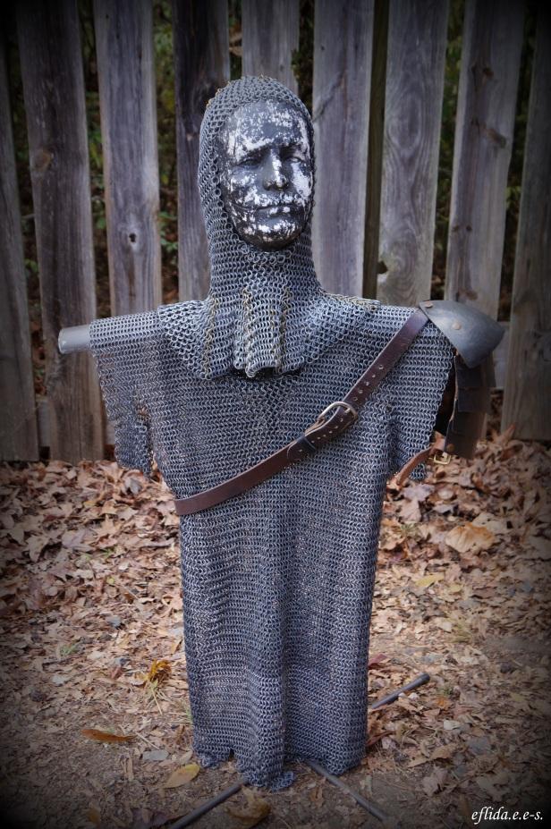 A knight in chain mail at Carolina Renaissance Faire 2012 in Charlotte, North Carolina.