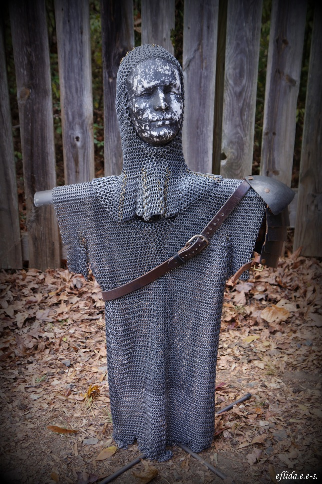 A knight in chain mail at Carolina Renaissance Faire 2012 in Charlotte, North Carolina.
