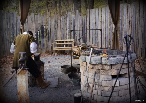 The art of smithing at Carolina Renaissance Faire in Charlotte, North Carolina.