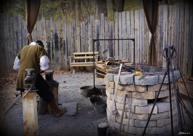 the art of smithing at Carolina Renaissance Faire at Charlotte, North Carolina