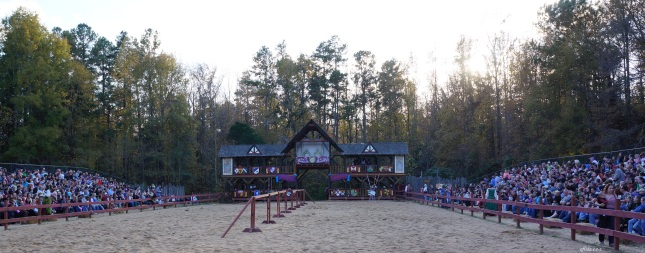 the jousting ground at Carolina Renaissance Faire 2012 in Charlotte, North Carolina