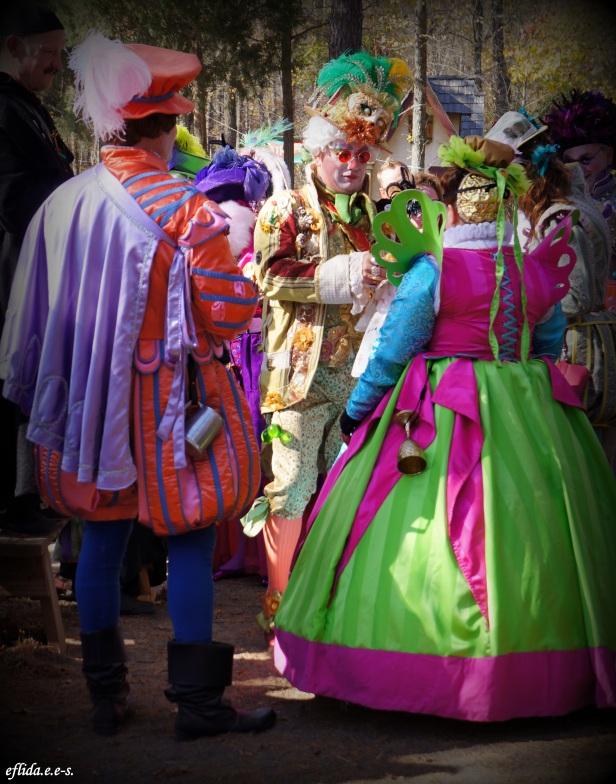 Fancy garbs at Carolina Renaissance Faire in Charlotte, North Carolina.