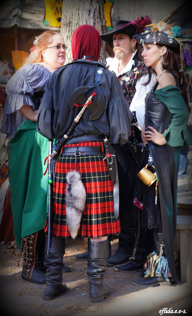 Friends and acquiantances at Carolina Renaissance Faire 2012 in Charlotte, North Carolina.