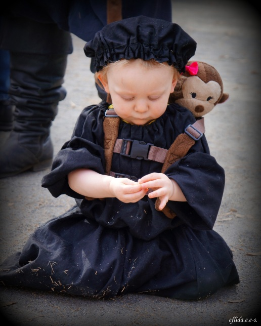 An adorable toddler in garb at Carolina Renaissance Faire 2012.