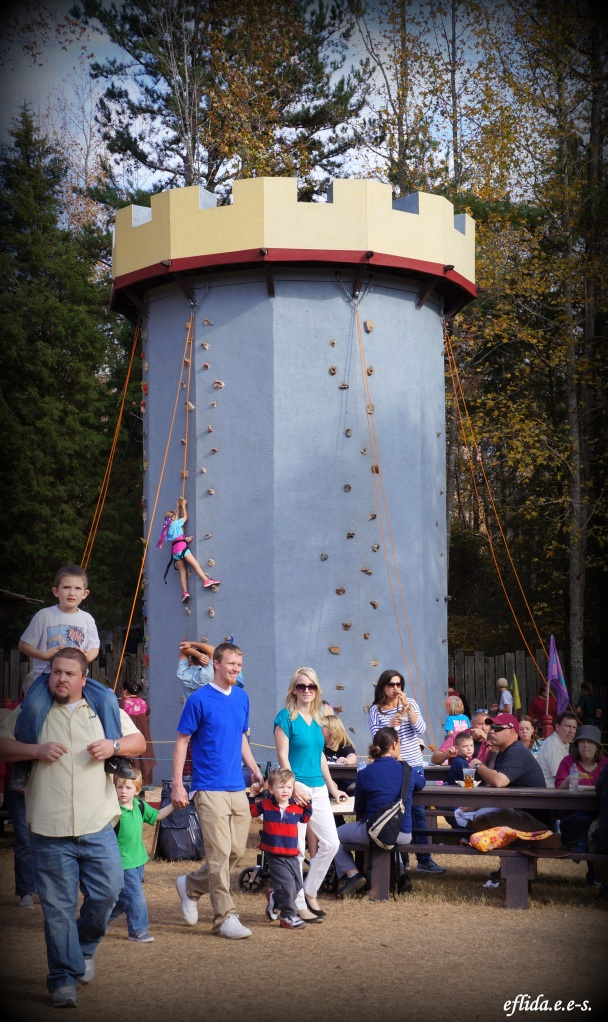 Castle tower climb at Carolina Renaissance Faire 2012 in Charlotte, North Carolina.