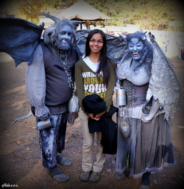 gargoyles at Carolina Renaissance Faire 2012