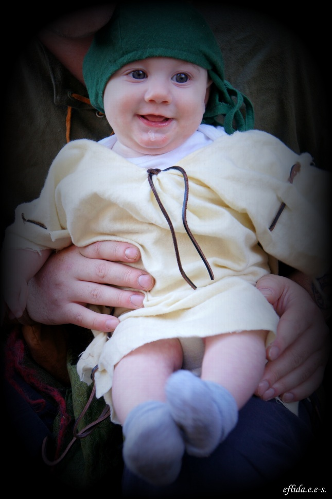 An adorable baby in garb at Carolina Renaissance Faire 2012 in Charlotte, North Carolina.