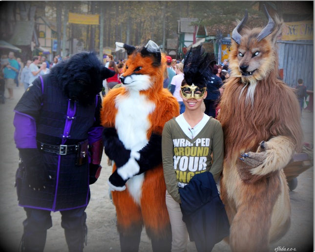 Giant furry friends at Carolina Renaissance Faire 2012 in Charlotte, North Carolina.