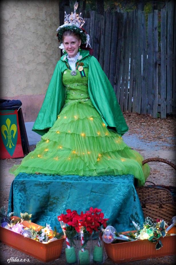 The Royal Christmas Tree at Carolina Renaissance Faire 2012 in Charlotte, North Carolina.