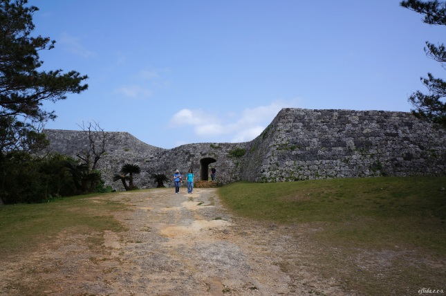 The entrance inviting everyone in to the Zakimi castle ruins in Okinawa, Japan.