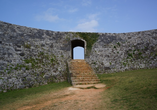 Zakimi castle in Okinawa, Japan was built by Gosamaru who was said to be a warrior who helped unify the different conflicting kingdoms of Okinawa. It is built on a red clay unlike others which are on a limestone.